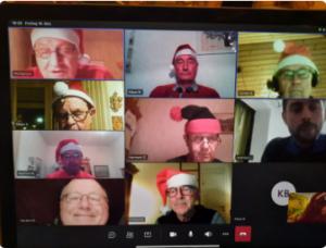 Virtuelle Weihnachtsfeier der Jedermann-Turner im Coronajahr 2020